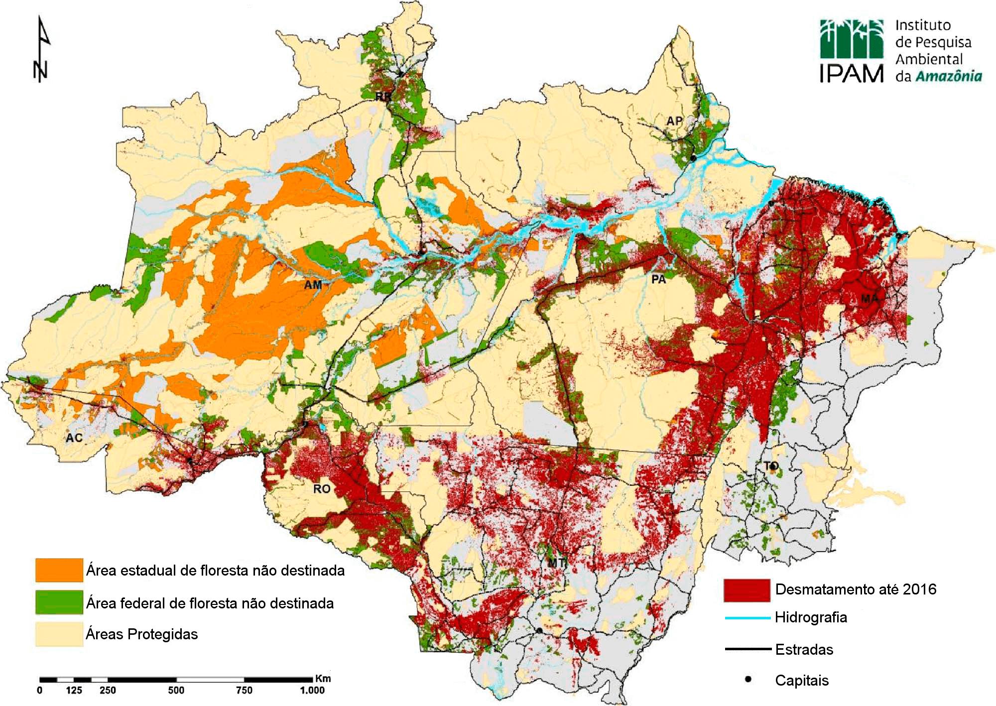 Ipam Amazônia Terras Não Designadas Na Amazônia Legal