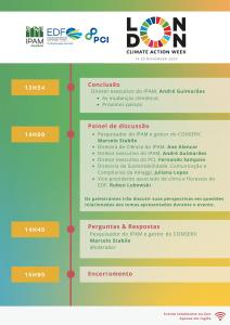 Programação LCAW. Foto: Divulgação/IPAM